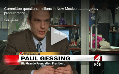 RGF appears on KOB TV to discuss procurement/budget savings