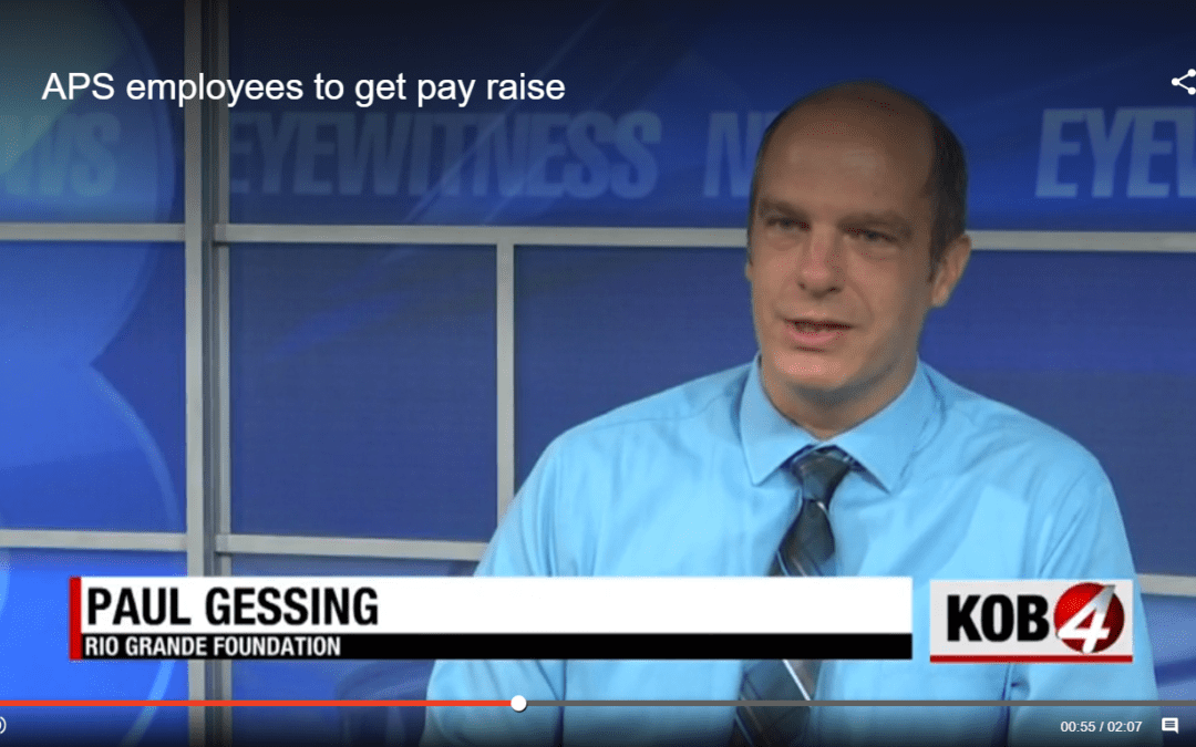 Rio Grande Foundation questions APS Superintendent's massive pay raise in KOB TV story